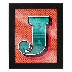 Wild & Wolf - Letter J jigsaw & frame