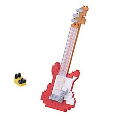 Nanoblock - Red electric guitar model building kit - NAN-NBC171