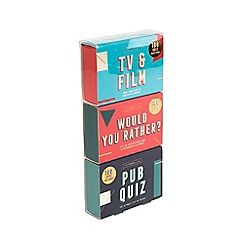 The Games Club - Set of 3 Matchbox Quiz Games