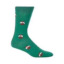 Merry Little Gifts - Green Figgy Pudding Socks