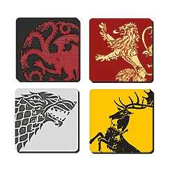 Game of Thrones - Set of 4 coasters
