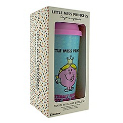 Mr Men - Little Miss Princess Travel Mug and Socks Set
