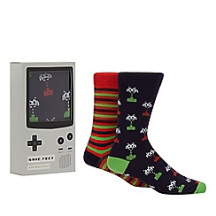 Retro Arcade - 2 Pack Mens Gaming Socks