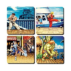 Street Fighter - Set of 4 'Street Fighter' lenticular coasters