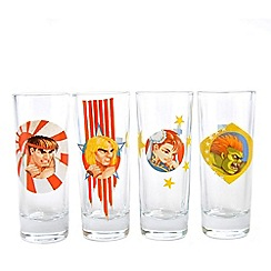 Street Fighter - Set of 4 mini 'Street Fighter Honour' drinking glasses