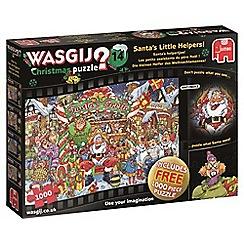 Wasgij - Set of 2 'Santa's Little Helpers' 1000 piece jigsaw puzzles