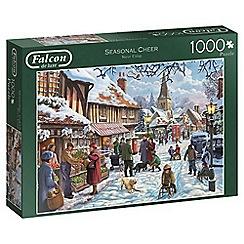 Falcon - 1000 piece 'Seasonal Cheer' jigsaw puzzle