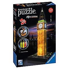 Ravensburger - Night Edition Big Ben 216 piece 3D Jigsaw Puzzle