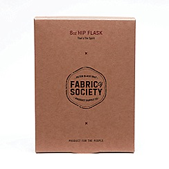 Fabric of Society - Grey Steel Hip Flask
