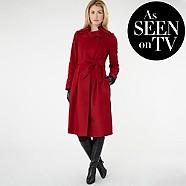 Betty Jackson black red coat £140 click to visit debenhams.com