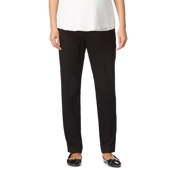 Herring Red trousers over slim Maternity bump the Black dqRTvF