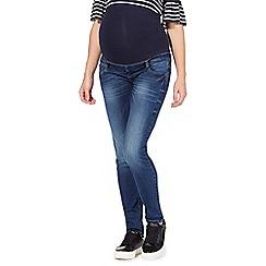 Red Herring Maternity - Blue maternity skinny jeans