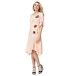 RJR.John Rocha - Peach embroidered poppy dress