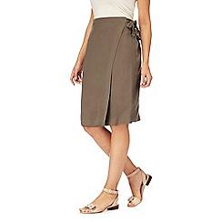 RJR.John Rocha - Khaki wrap skirt