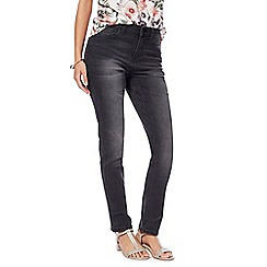 RJR.John Rocha - Dark grey 'Brooke' high-waisted slim leg jeans