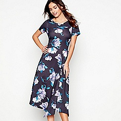 RJR.John Rocha - Black floral print scuba tea dress