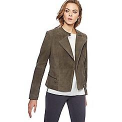RJR.John Rocha - Grey suede jacket