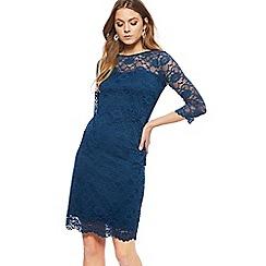 RJR.John Rocha - Turquoise lace round knee length dress