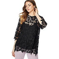 RJR.John Rocha - Black layered lace top
