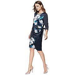 RJR.John Rocha - Navy floral print jersey shift dress