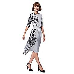 RJR.John Rocha - Grey floral print midi dress