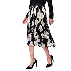 RJR.John Rocha - Black floral print pleated skirt