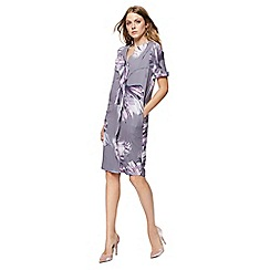 RJR.John Rocha - Grey floral print V-neck shift dress