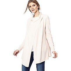 RJR.John Rocha - Light pink waterfall cardigan