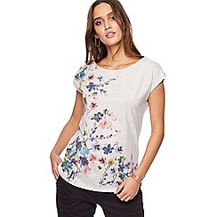 RJR.John Rocha - Light grey floral print t-shirt