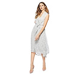 RJR.John Rocha - Light grey V-neck midi dress