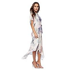RJR.John Rocha - Ivory 'Elise' floral print midi dress