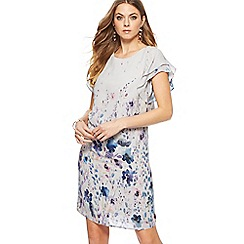RJR.John Rocha - Grey floral print short length dress