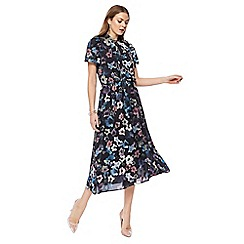 RJR.John Rocha - Multi-coloured 'Camille' floral print short sleeve midi dress