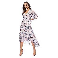 RJR.John Rocha - Lilac floral print midi wrap dress