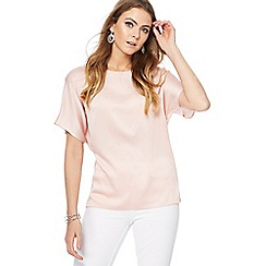 RJR.John Rocha - Light pink button back top