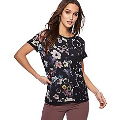 RJR.John Rocha - Black floral print t-shirt