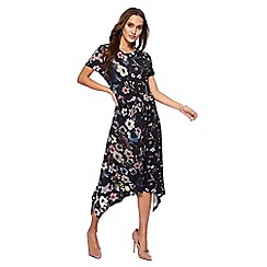 RJR.John Rocha - Black floral print 'Camille' jersey midi dress