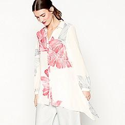 RJR.John Rocha - Pink floral print wingtip collar shirt
