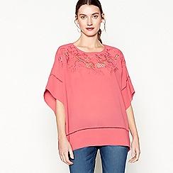 RJR.John Rocha - Pink floral embroidered kimono top