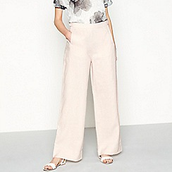 RJR.John Rocha - Pink linen loose fit casual trousers