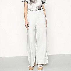 RJR.John Rocha - Grey linen loose fit casual trousers