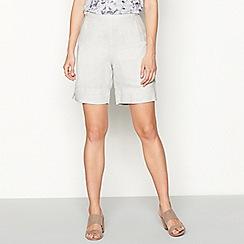 RJR.John Rocha - Grey linen shorts