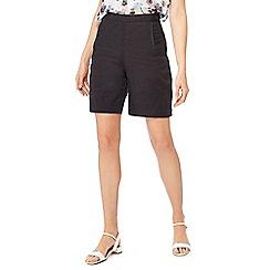 RJR.John Rocha - Black linen shorts