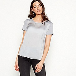 RJR.John Rocha - Grey satin short sleeve top
