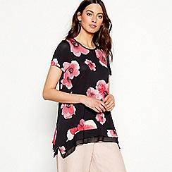 RJR.John Rocha - Black floral print jersey top