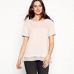 RJR.John Rocha - Pale pink short sleeve top