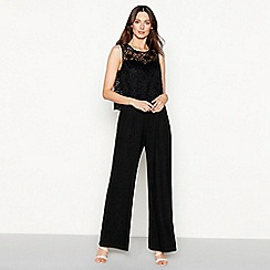 RJR.John Rocha - Black lace sleeveless jumpsuit