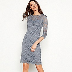 RJR.John Rocha - Grey lace round neck mini dress
