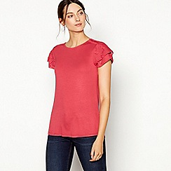 RJR.John Rocha - Pink ruffle sleeve t-shirt