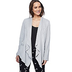 RJR.John Rocha - Grey suedette waterfall jacket
